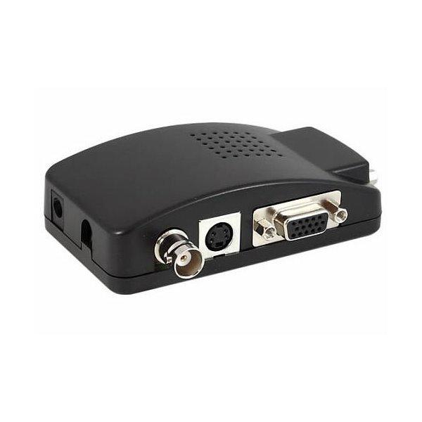 Převodník Video PAL na VGA, s možností nastavení jas/kontrast, až 1280x1024, scaler, 5V-19V DC