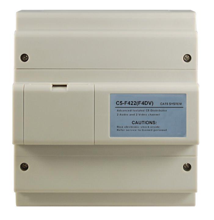Rozbočovač hlavního vedení pro monitory, UTP CAT5, až 2x audio nebo až 2x video hovor současně
