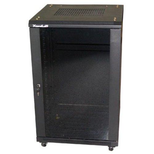 27U/600x600 stojanový, černý, skleněné dveře, plná záda