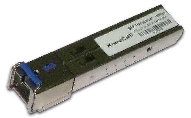 SFP modul, 100Base-FX, WDM, 1310/1550nm 2km, multimode mode,SC konektor, průmyslový -40 až +85 st. C