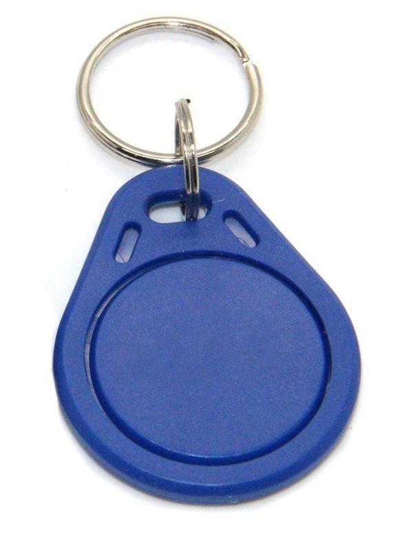 Identifikační klíčenka k dveřním stanicím, RFID 13.56 MHz - s číslem - blue