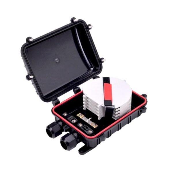 Vodotěsná optická spojka, zemní/zeď/stožár, 12c,  280x200x90mm