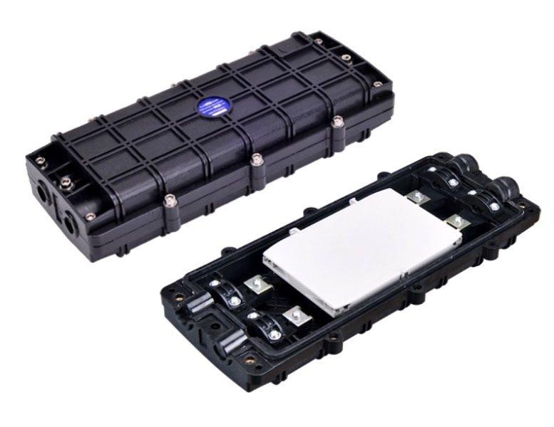 Vodotěsná optická spojka, zemní/zeď/stožár, 24c, 340x150x70mm