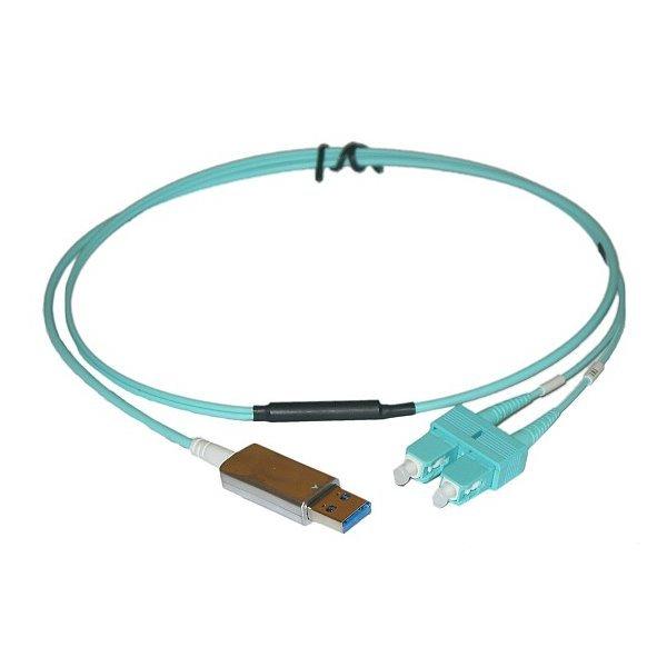 Optické propojení a optické oddělení USB 3.0, SC konektory, 1m, jedna strana