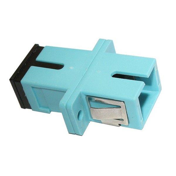 XtendLan SC-SC simplex adapter MM, PC, OM3, azurová, do optických rozvaděčů