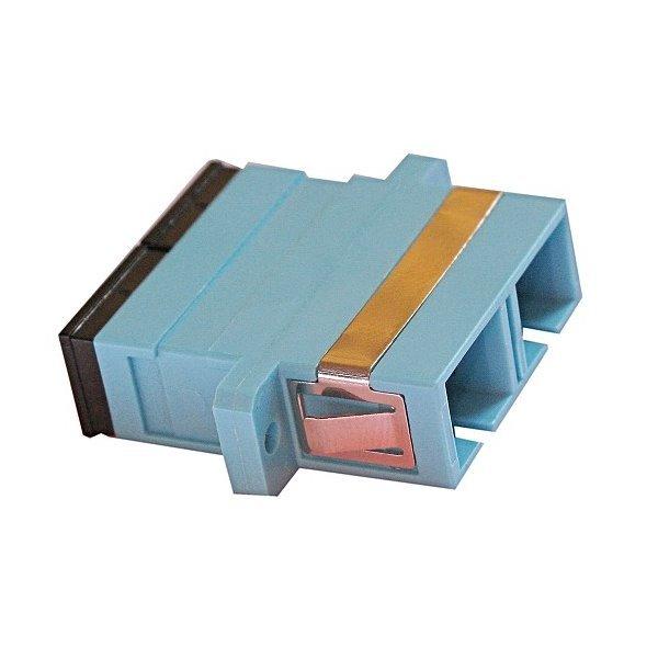 XtendLan SC-SC duplex adapter MM, PC ,OM3,azurová, do optických rozvaděčů