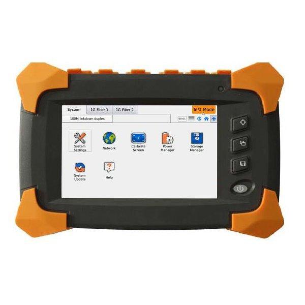 Gigabit Tester 2x UTP+2x SFP, dotykový displej, Y.1564, testy L1/L2/L3(OSI), generátor provozů, USB