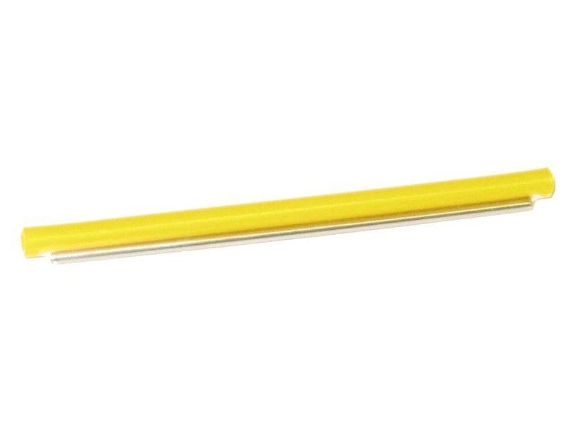 Ochrana svaru, zatavovací, 61mm, 2,4/1,2mm, vyztužení drátem 1mm. Žlutá barva.