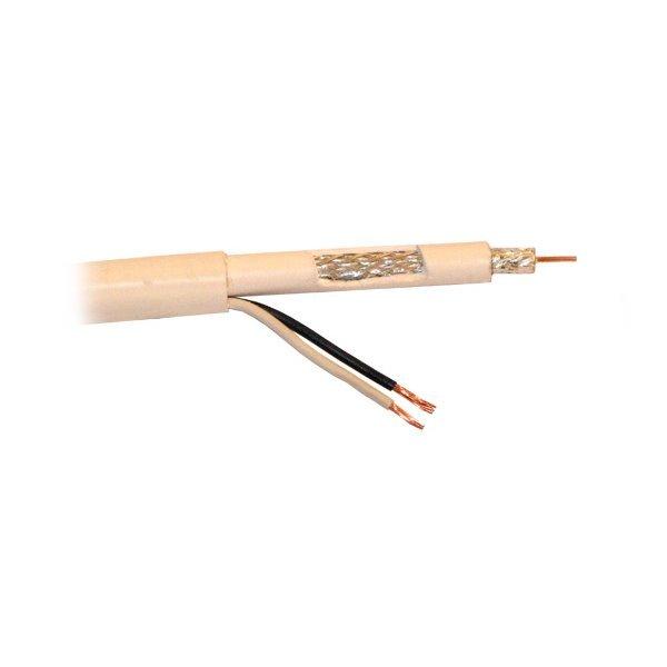 Koaxiální kabel kombinovaný xl-RG 59W (75 Ohm) 0.81mm + 2x 1mm2 vodič, balení 200m, cena/m, LS0H