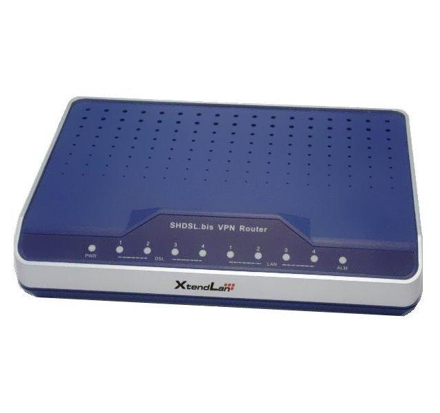 G.SHDSL bis, 2/4 drát, 15/30Mbps, spojení až 20km, 4x LAN, VPN, NAT, firewall