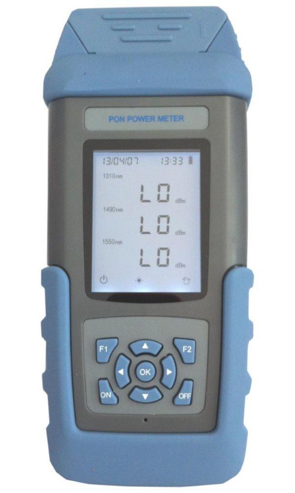 Optický měřič výkonu pro sítě PON za provozu, 1310, 1490, 1550nm, paměť 99 měření