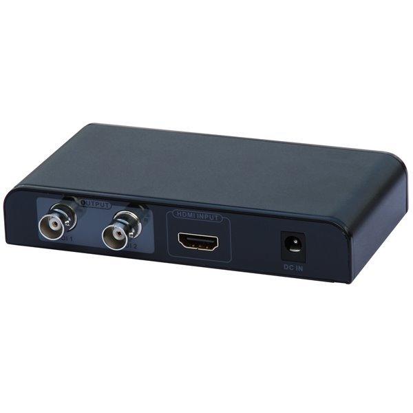 Konvertor HDMI na HD-SDI/3G-SDI, autodetekce režimů, 1x HDMI vstup, 2x HD-SDI výstup