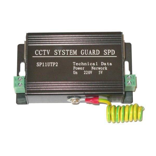 Přepěťová ochrana UTP vedení a napájení (do 260V), zemnící vodič, 100/1000Mbit