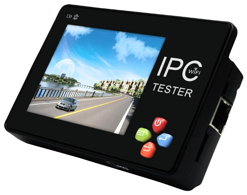 "Ruční tester IP a analog kamer, 3,5"" touch, WiFi, RS485, LAN,PoE, video-in, RS485/232, 12V out"