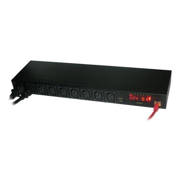 IP ovládání 8x zásuvek 230V/16A, desktop, LED displej