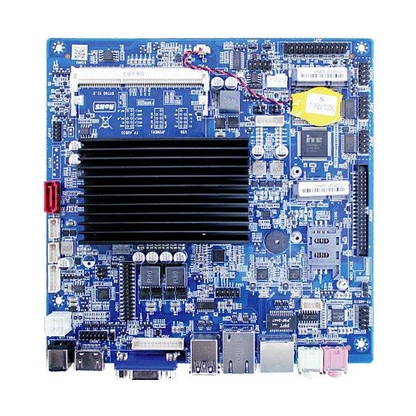 MB Celeron J1900, 2x 2GHz, mini ITX, DC 12V, 1x RS-232, VGA,HDMI,LVDS, mSATA,SATA, TDP 10W, fanless