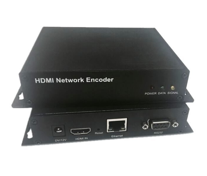 IP HD enkoder, realtime, 1x HDMI in, audio in, H.264/H.265, TS stream, ONVIF