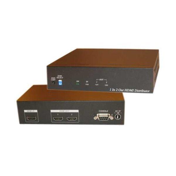 HDMI distribuční rozbočovač, 1 vstup / 2 výstupy, podpora 4k, EDID