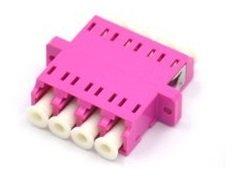 XtendLan LC-LC quad adapter, MM, PC, OM4, , fialová, do optických rozvaděčů
