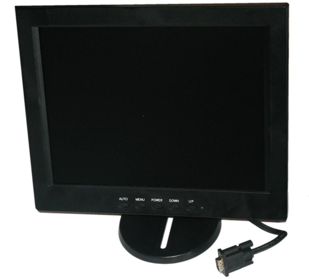 """12,1"""" TFT monitor, A/V, VGA, HDMI, 1024x768,  stojánek, VESA 75, černý"""
