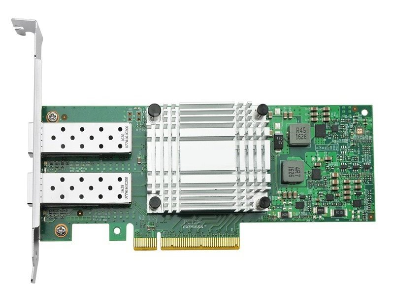 PCI-E síťová karta, 2x 10Gbps SFP+, Intel X710, PCI-E x8