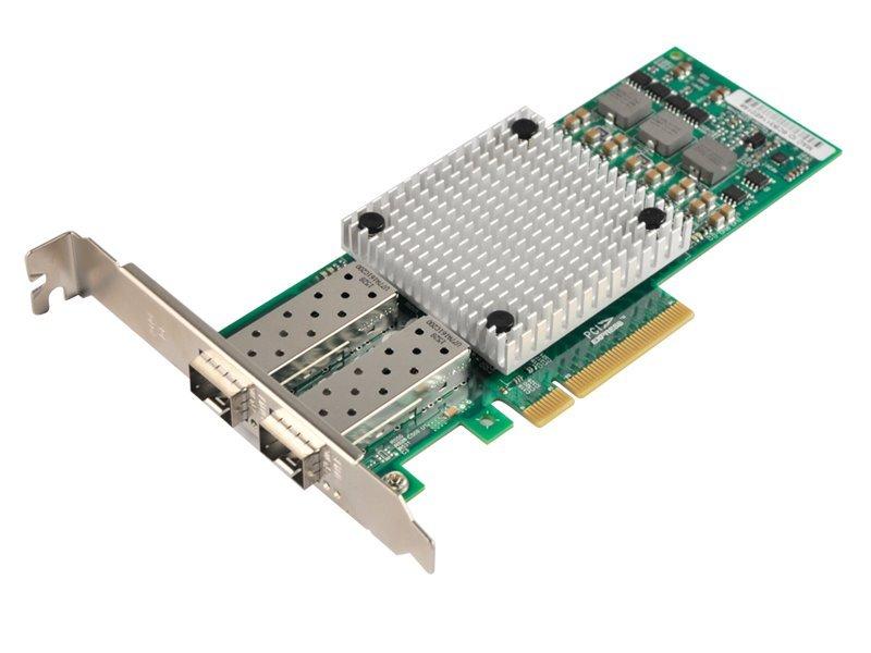PCI-E síťová karta, 2x 10Gbps SFP+, BCM57810S, PCI-E x8, funkční s Mikrotik, low profile