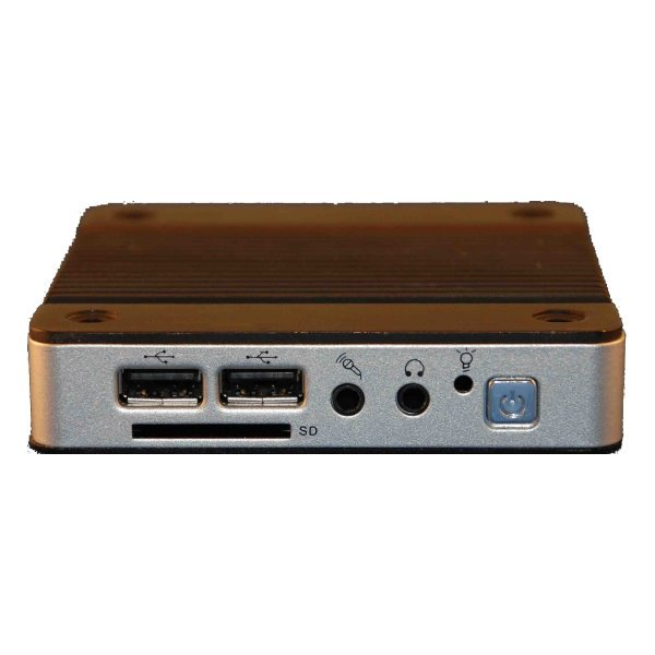 microPC, 1x SD,Vortex x86 DX2 933MHz, 1x LAN, 3x USB, fanless, 512MB, 3,5W odběr, výška 20mm
