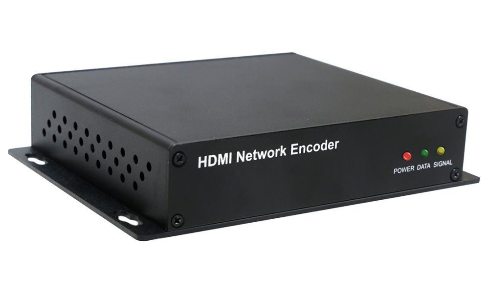 IP HD enkoder, realtime, 1x HDMI in do 4k, audio in, H.264, TS stream, ONVIF