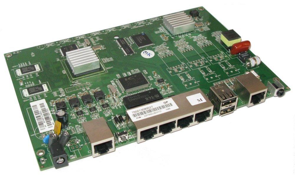 G.SHDSL bis, 2 drat, 15Mbps, 4xLAN, VPN provedení PCBA