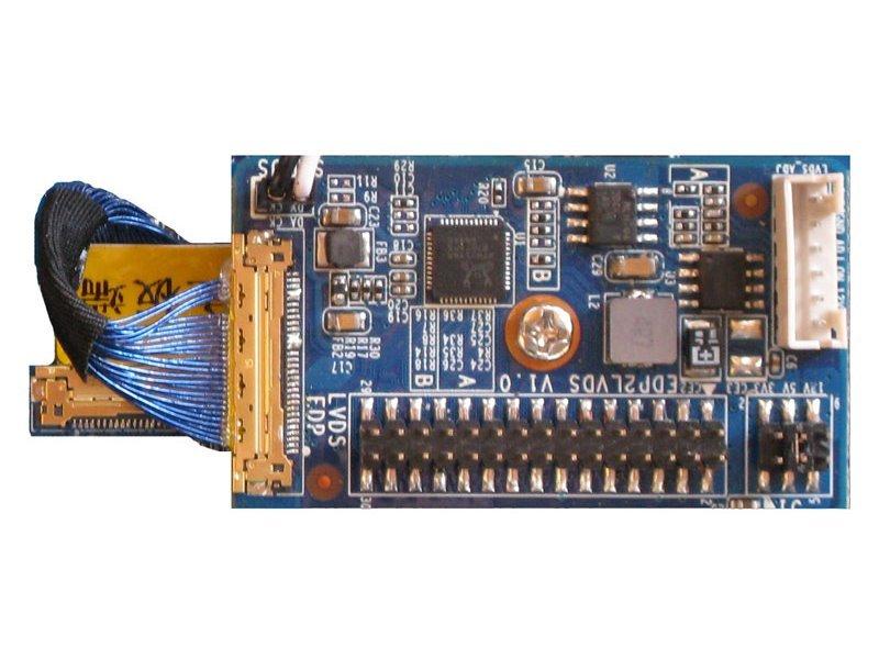 eDP na LVDS konvertor, umožňuje připojit LVDS LCD panel do eDP rozhraní