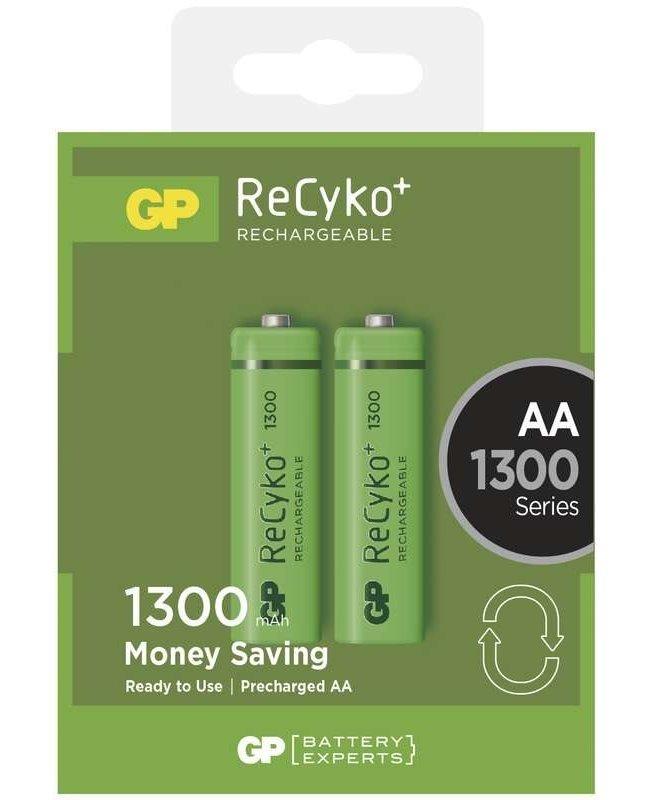Nabíjecí baterie GP ReCyko+ AA Ni-MH 1300mAh