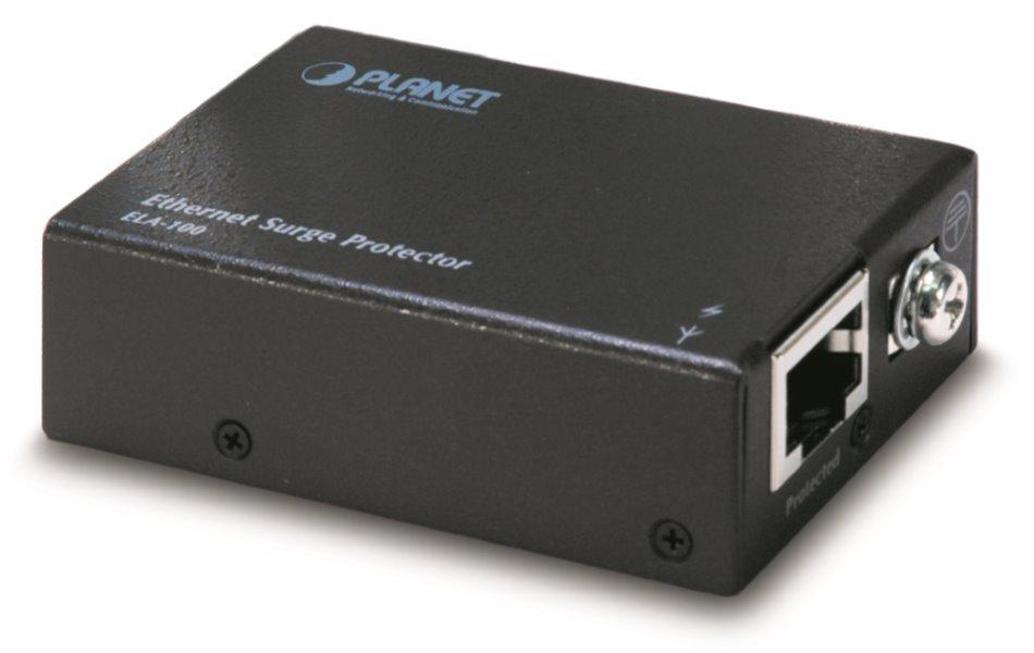 Planet Přepěťová ochrana UTP/FTP vedení, zemnící vodič, 100/1000Mbit,chrání všechny čtyři páry, podpora PoE