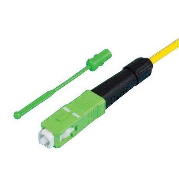 SC konektor,splice-on, zabroušený /APC, přímé navaření na kabel, kabel do průměru 3mm