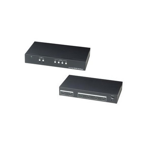 HDMI distribuční rozbočovač, 2 vstupy / 4 výstupy