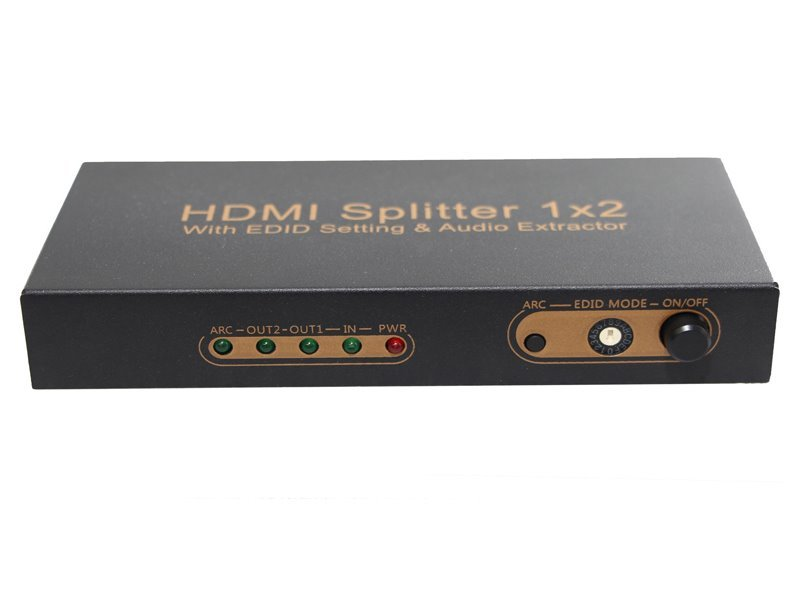 HDMI splitter 1X2  4K, SPDIF, stereo out.,  EDID