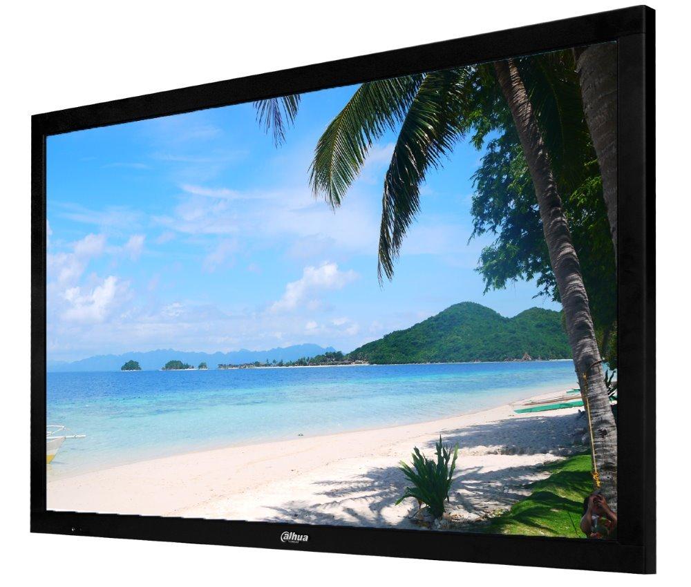 """Dahua DHL55-4K, 55"""" UHD 4k průmyslový LCD panel, vstupy 2xHDMI+VGA+DVI+CVBS, kovový kryt, provoz 24/7"""