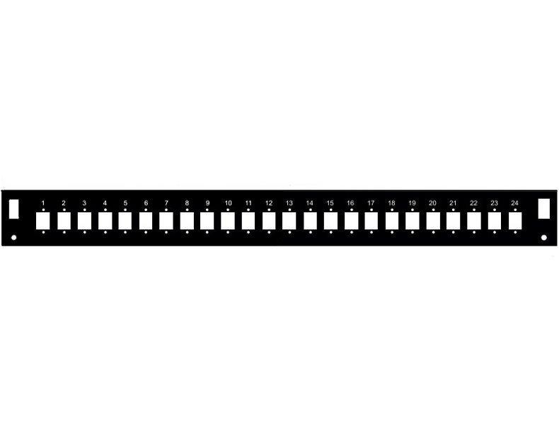 Čelní panel Solarix FP2-1U-24SCS-B
