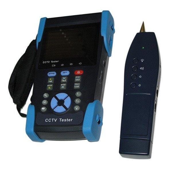 """OPRAVENÉ - Ruční tester analogových kamer, 3,5"""", BNC,RS485, LAN,test kabelů,PTZ,generátor,PoE,12V out, TDR"""