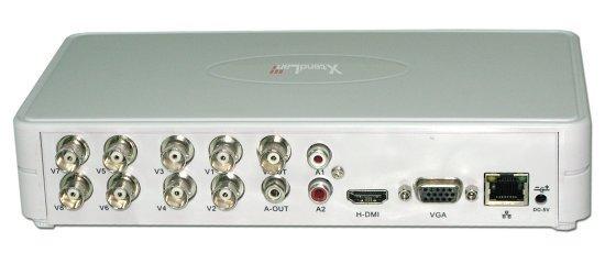 """OPRAVENÉ - DVR-880E, 8x PAL, 25sn/kanál, 2xAudio, 1xSATA 2,5"""", LAN, 3G, HDMI+VGA, CZ, videoanalytika, fanless"""