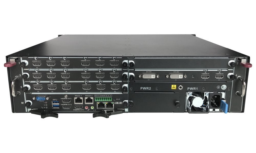 DAHUA IP dekoder 21ch@12MP nebo 84ch@2Mpix/ H.265/ 2x LAN/ 21xHDMI out/ 2xHDMI+2xDVI in
