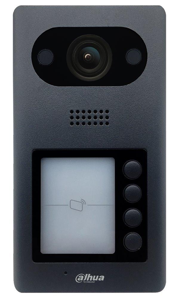 "IP dveřní stanice, 4x zvonek, kamera 2Mpix 1/2,8"", TCP/IP CAT5, PoE 802.3af, IP65, IK08"