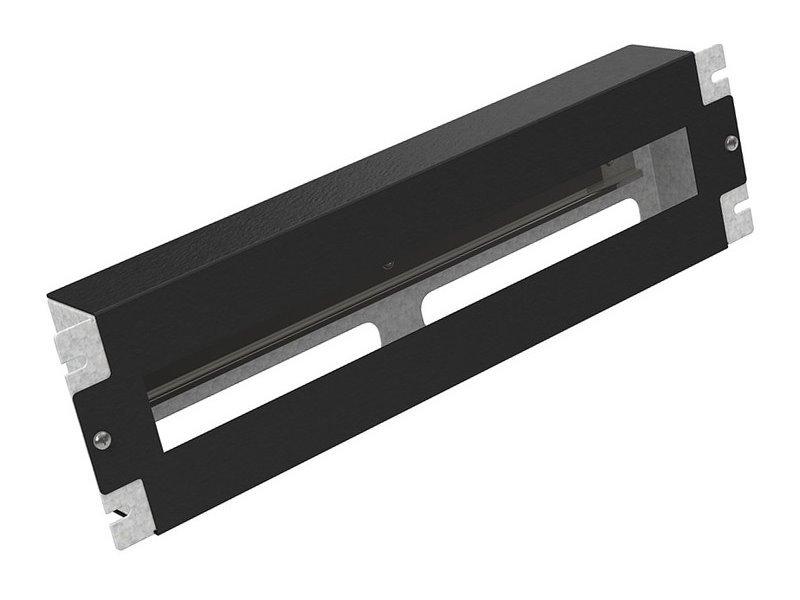 Instalační panel Solarix RAIL-3U-DIN-BK