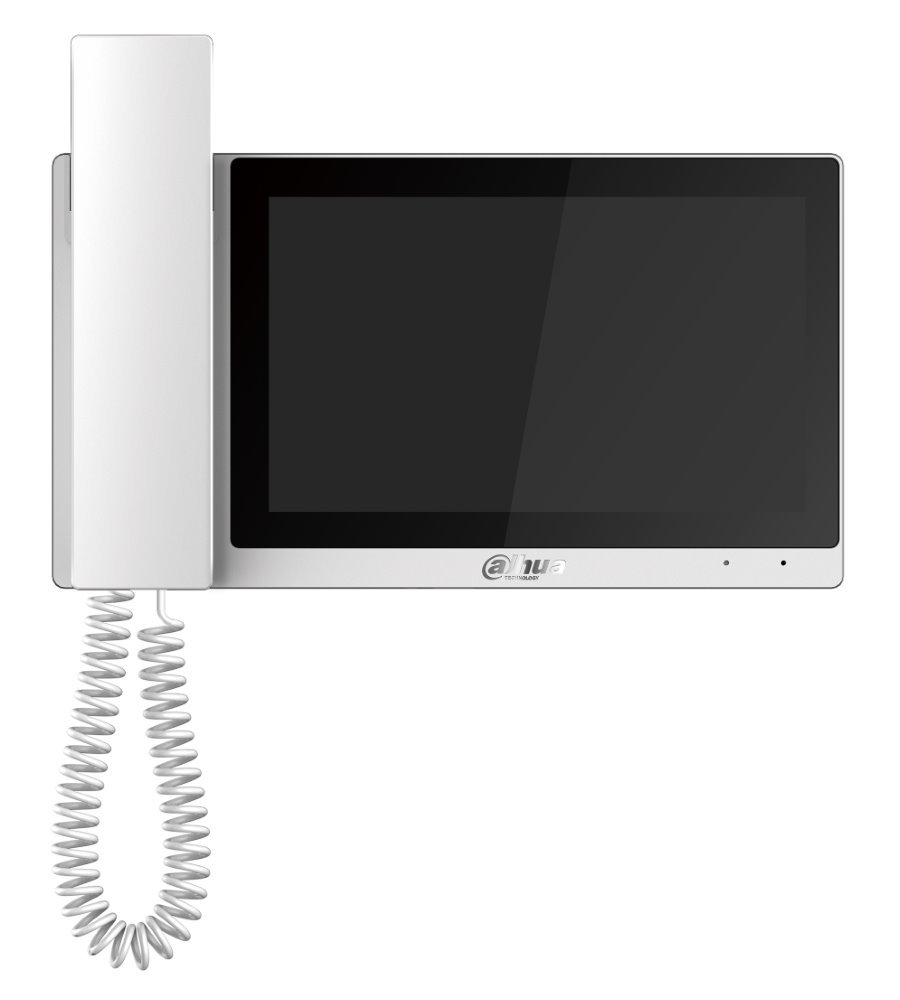 "Bytový monitor IP, dotykový 7"" 1024x600, 12VDC/PoE 802.3af, paměť, alarm porty, bilý, CZ menu"