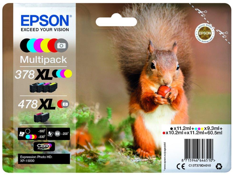 Inkoustová náplň Epson 478XL 6 barev