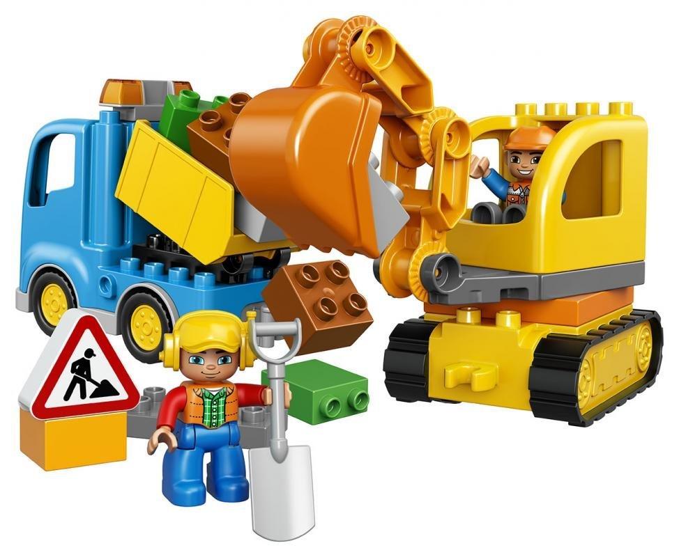Stavebnice LEGO DUPLO Pásový bagr a náklaďák