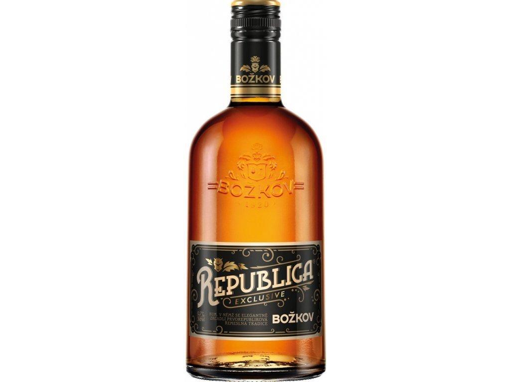 Rum Božkov Republica Exclusive hnědý 0,7l
