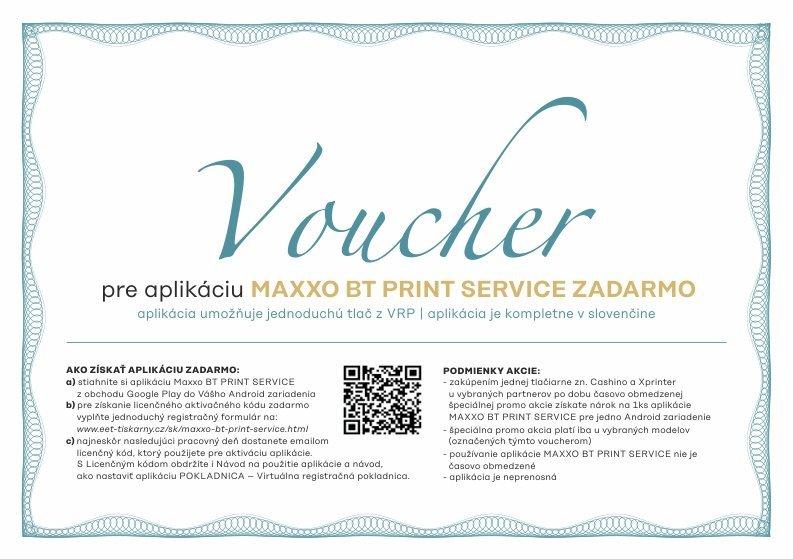 Voucher na aplikaci Maxxo BT Print service