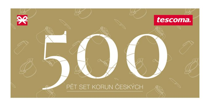Dárková poukázka TESCOMA 500Kč - samostatně neprod