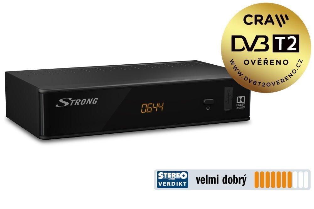 STRONG DVB-T/T2 přijímač SRT 8211/ Full HD/ H.265/HEVC/