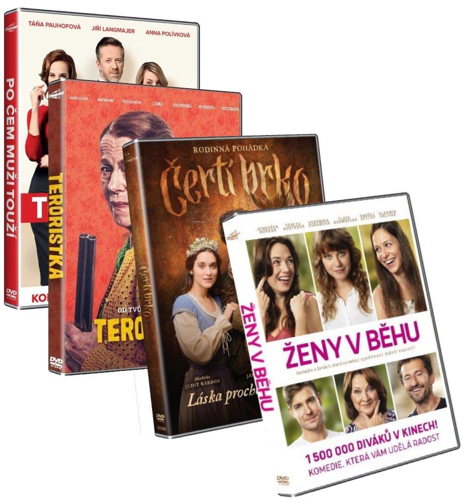 DVD 4 pack českých filmů - samostatně neprodejné